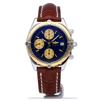 Breitling Chronomat steel/gold blue dial with new Breitling strap