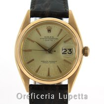 Rolex Rose gold Automatic 34mm pre-owned Oyster Perpetual Date