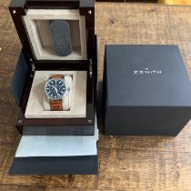 Zenith Captain Chronograph pre-owned 42mm Black Chronograph Date Leather