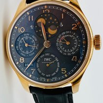 IWC Rose gold Automatic Black Arabic numerals pre-owned Big Pilot