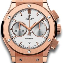 Hublot Rose gold Automatic Silver 45mm new Classic Fusion Chronograph