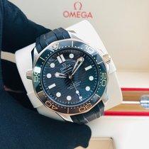 歐米茄 新的 自動發條 透視底蓋 精密計時器 旋轉式錶圈 排氦閥門 42mm 金/鋼