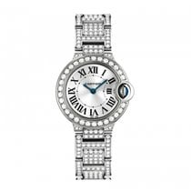 Cartier new Automatic 28mm White gold Sapphire crystal