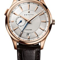 Zenith Elite Dual Time new 2011 Automatic Watch with original box 18.2130.682-02.C498