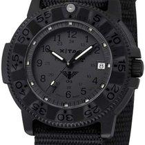 KHS Titanyum Quartz Siyah 45mm yeni