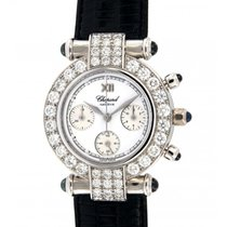 Chopard Imperial Chrono 38/3168-23 Whiete Gold Diamonds 32mm