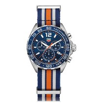 TAG Heuer Formula 1 Quartz Stainless Steel Blue Dial Mens...