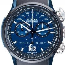 Edox Chronograph 48mm Quartz new Chronorally Blue