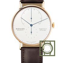 NOMOS Lambda Rose gold 42mm White No numerals