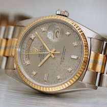 Rolex Day-Date 36 Witgoud 36mm Zilver