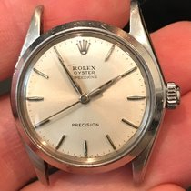 Rolex Oyster Precision pre-owned 34mm Silver