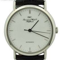 IWC Portofino Automatic pre-owned 34mm White Date Leather