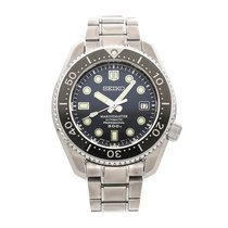 Seiko Marinemaster pre-owned 44mm Black Date Fold clasp