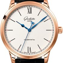 Glashütte Original Senator Excellence Or rouge 40mm Argent