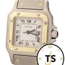 Cartier Santos Small 24X34mm 18K Gold & Stainless Automati...