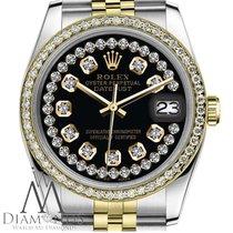 Rolex Lady-Datejust Золото/Cталь 26mm Чёрный