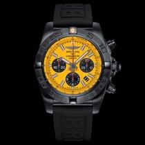 Breitling OR. CHRONOMAT44 BLACKSTEEL CH AUT ACC DLC/GO...