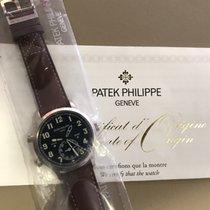 Patek Philippe Travel Time Белое золото 42mm Синий Aрабские