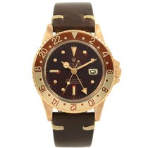Rolex Gmt Master Rootbeer Gold Nipple Dial Vintage Watch 1675