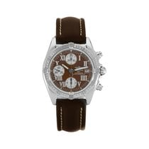 Breitling Chrono Cockpit Steel 39mm Brown Roman numerals