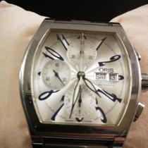 Oris Miles Tonneau Steel 40mm Silver Arabic numerals