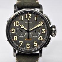 Zenith Pilot Type 20 nuevo Automático Cronógrafo Reloj con estuche y documentos originales 11.2430.4069/21.C773