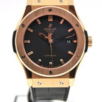 Hublot Rose gold Automatic Black 42mm pre-owned Classic Fusion 45, 42, 38, 33 mm