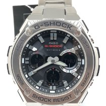 Casio G-Shock Stal 52,4mm Czarny Bez cyfr