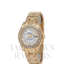 Rolex Lady-Datejust Pearlmaster Oro amarillo 29mm Madreperla