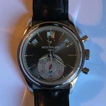 Patek Philippe Annual Calendar Chronograph Platinum 40.5mm Grey No numerals