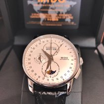 Mido Baroncelli Moonphase Stahl 42mm Silber
