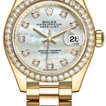 Rolex Lady Datejust 28mm Yellow Gold 279138RBR MOP Diamond...
