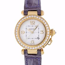 Cartier Pasha Yellow gold 32mm Silver Arabic numerals United States of America, Maryland, Towson, MD