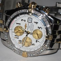 Breitling Chronomat Evolution 18K Gold Automatic Diamonds