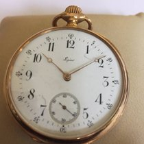 Lepine Paris open face gold  pocket watch