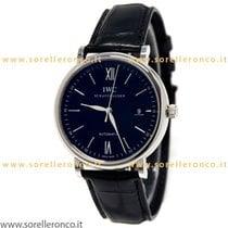 IWC Stahl 40mm Automatik IW356502 - IWC Portofino Watch Black DIal Automatic Leather neu