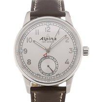 Alpina Alpiner KM-710 42 Silver Dial Brown Leather Strap