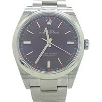 Rolex Oyster Perpetual Stick Grape Dial 39mm Stainless Steel...