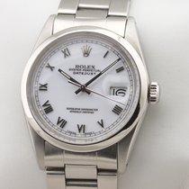 Rolex Datejust Aço 36mm Branco Romanos