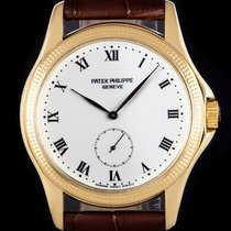 Patek Philippe 35mm Manual winding 2007 pre-owned Calatrava White