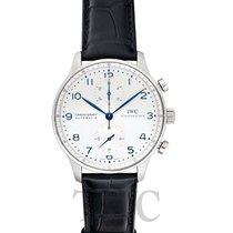 IWC Portuguese Chronograph Сталь Белый