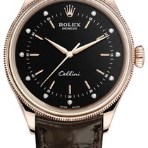 Rolex Cellini Time Rose gold 39mm Black