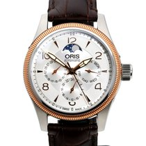 Oris Big Crown Complication Gold/Steel 40mm Silver Arabic numerals