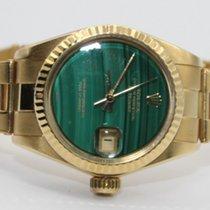 Rolex Lady-Datejust Or jaune 26mm Vert Sans chiffres