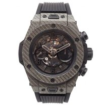 Hublot Big Bang Unico gebraucht 45mm Transparent Chronograph Datum Kautschuk