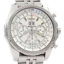 Breitling Bentley 6.75 pre-owned 49mm Silver Chronograph Date Steel
