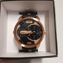 Diesel Rose gold Quartz Doppelzeit Dial Schwarz Rose Chrono Quarz Herrenuhr new