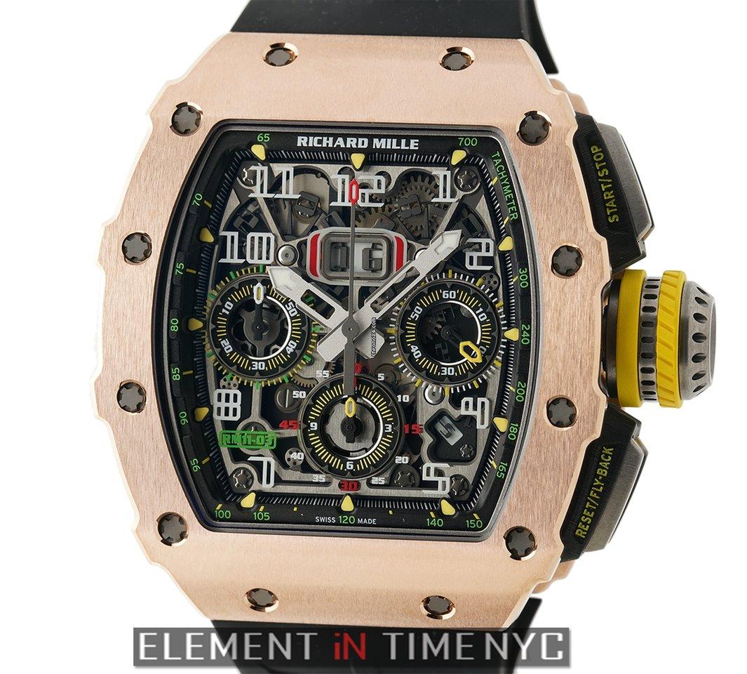 Richard Mille RM 11-03 Rose Gold And Titanium Felipe Massa Automatic  Flyback Chronograph Annual Calendar