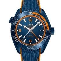 Omega Керамика Автоподзавод Синий Aрабские 45.5mm новые Seamaster Planet Ocean