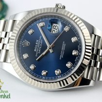 Rolex Datejust Stahl 41mm Blau Keine Ziffern Deutschland, Bremen / Mailand / München